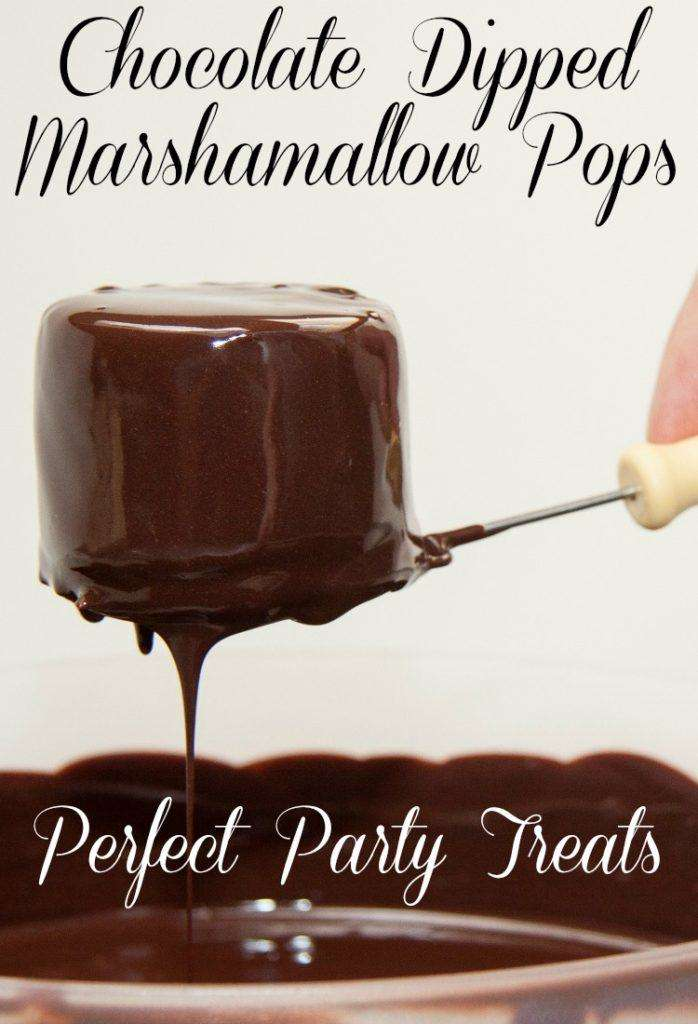Chocolate Dipped Marshmallow Pop