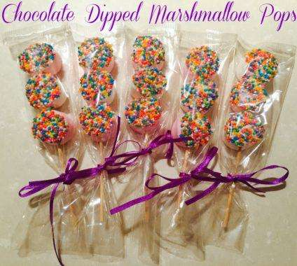 Dipped Marshmallow Pops