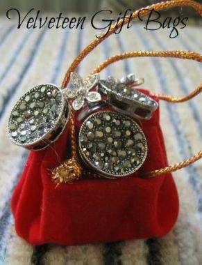Velveteen Gift Bags