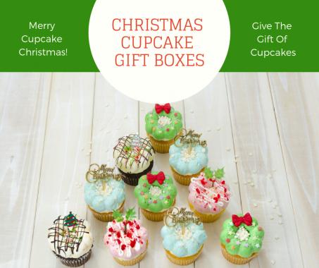 Christmas Cupcake Gift Boxes